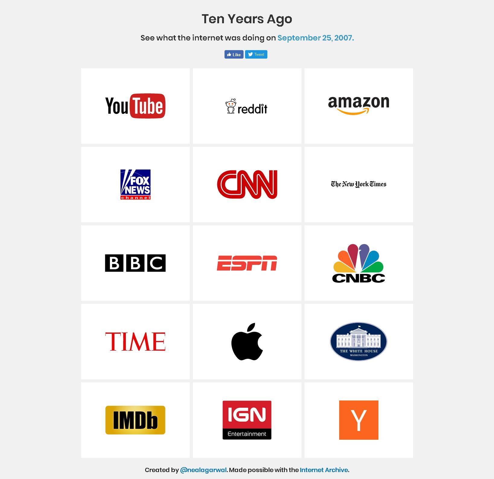 懐かしい!「Ten Years Ago」で10年前のサイトデザインを振り返ってみた。