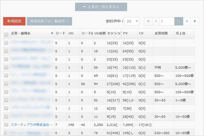 企業IPの取得(15万件のリストから企業名を自動で表示)