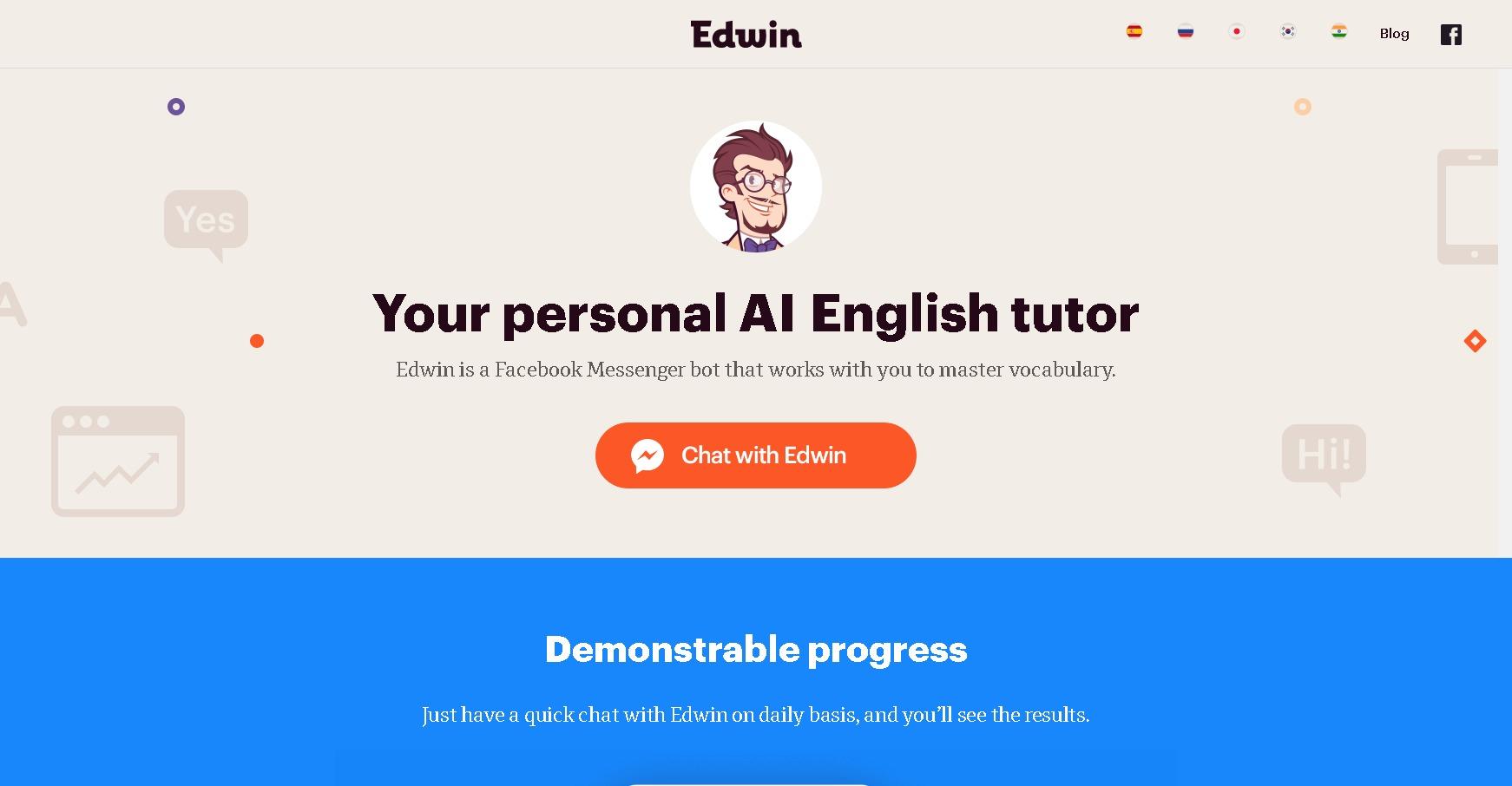 今や英会話スクールもAIの時代!AIチャットボット「Edwin」がすごい!